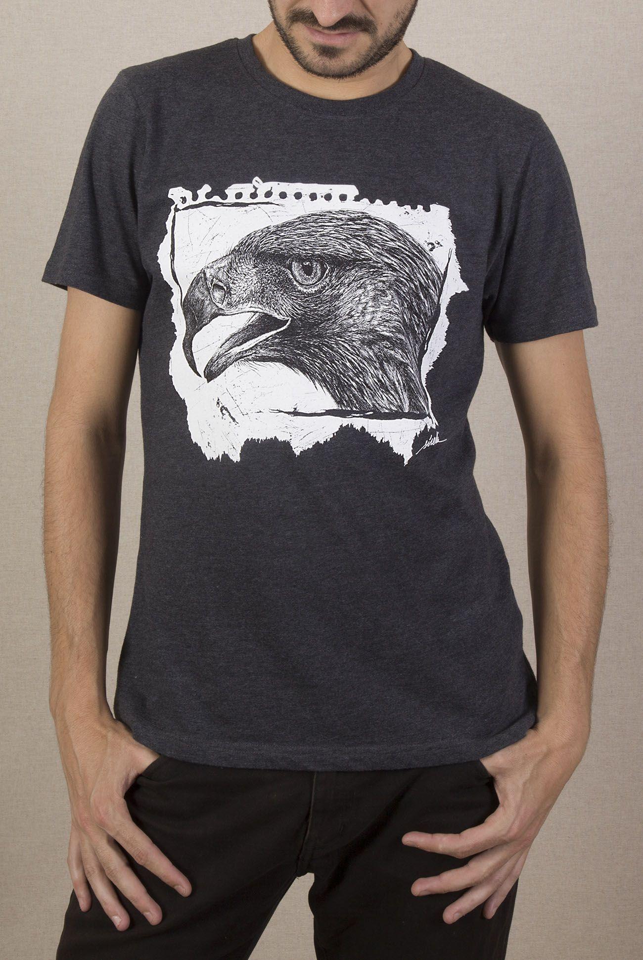 camiseta-ecologica-aguila-gris-sirem-wild