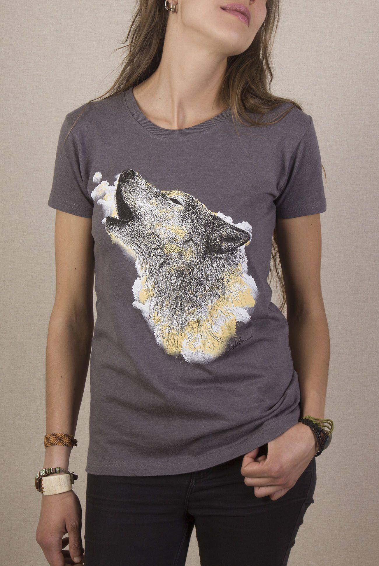 camiseta-ecologica-lobo-aullando-gris-sirem-wild