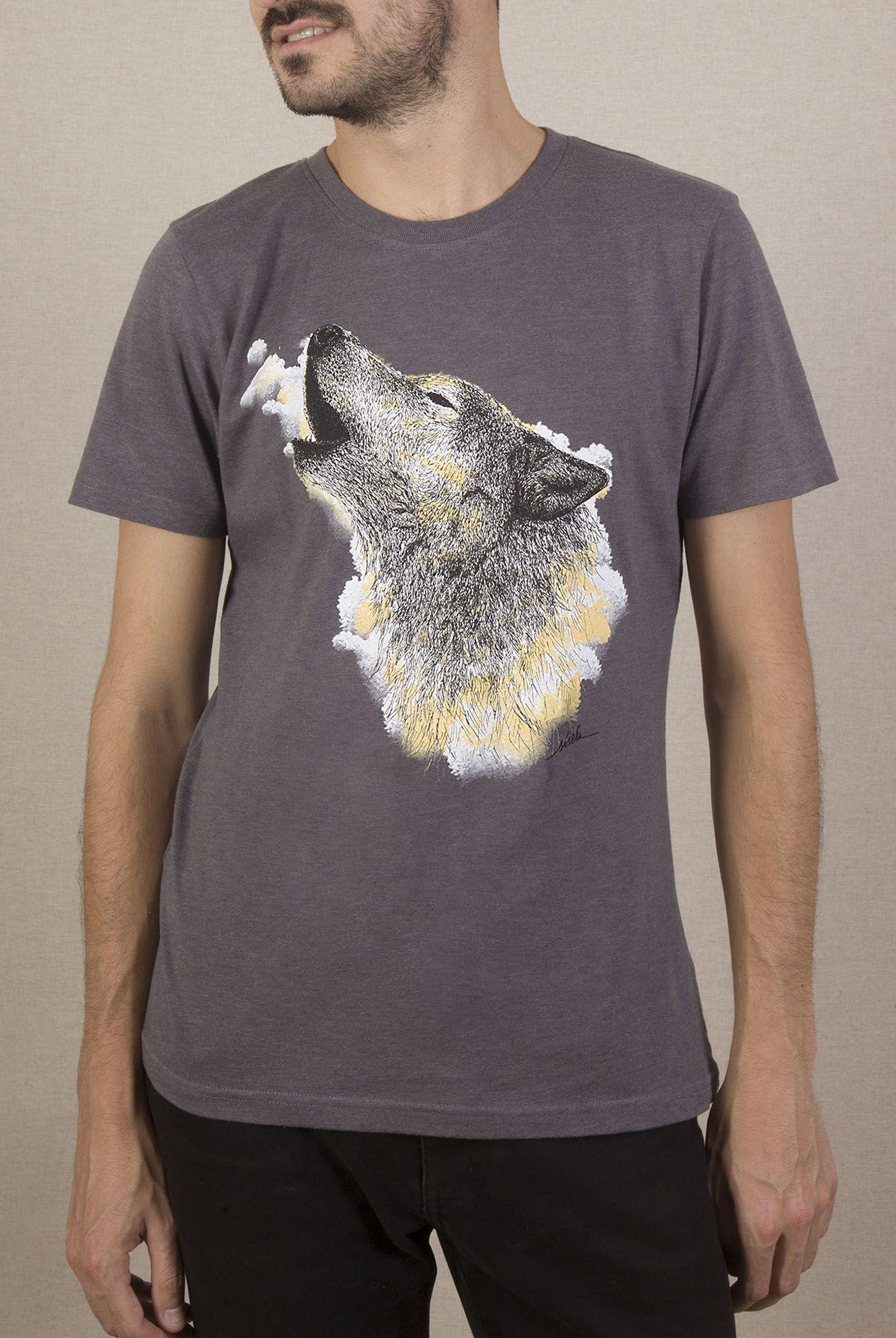 Camiseta lobo Hombre