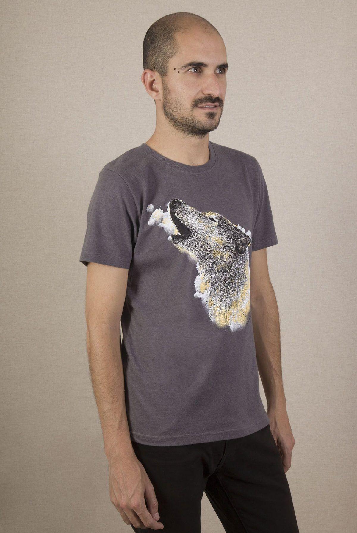 Camiseta ecólogica lobo Hombre