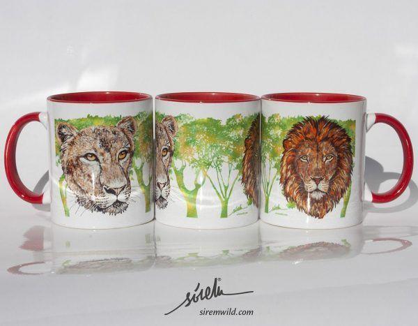 Taza leona y leon