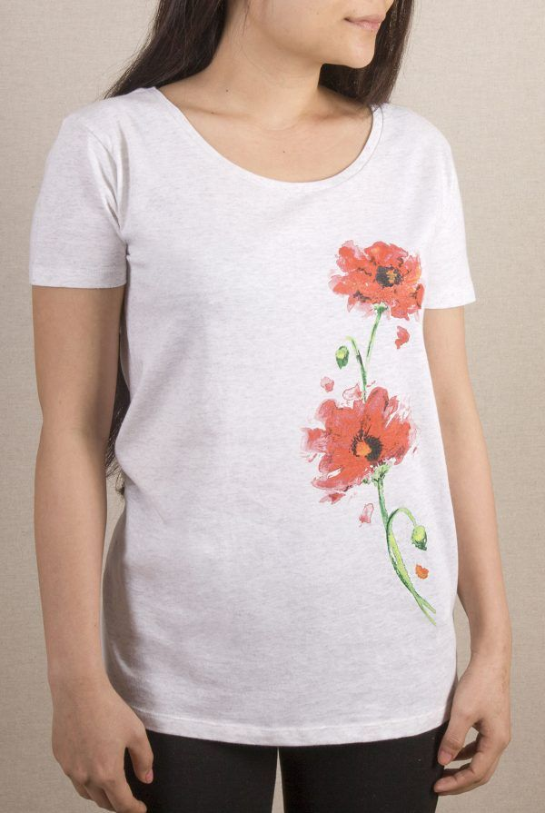 Camiseta Amapolas Mujer