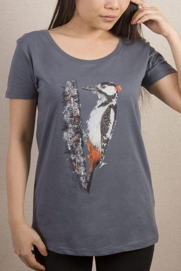 camiseta-ecologica-algodon organico-picapinos-mujer-gris-sirem wild