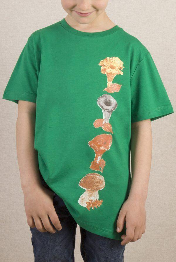 camiseta-ecologica-algodon organico-setas-niño-niña-infantil-verde-sirem wild