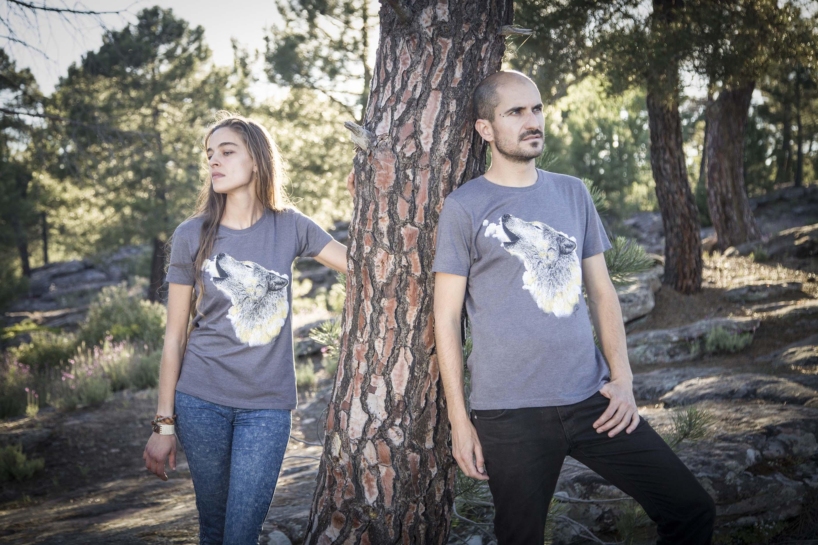 sirem wild-camisetas ecologicas-lobo