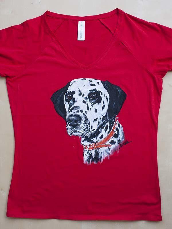 perro-dalmata-camiseta pintada a mano-sirem wild