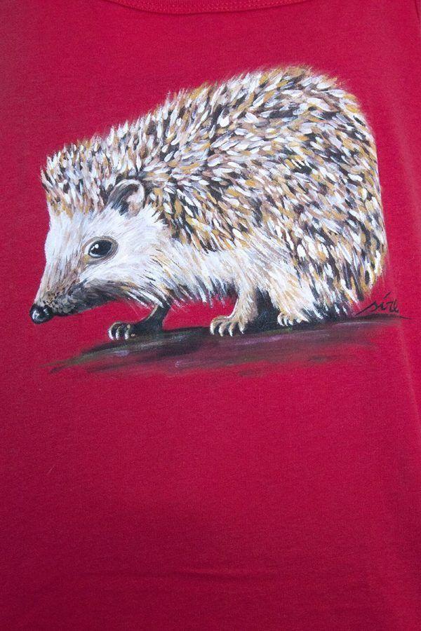camiseta pintada a mano-sirem wild-erizo