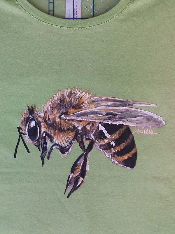 camiseta pintada a mano-sirem wild-abeja-insecto