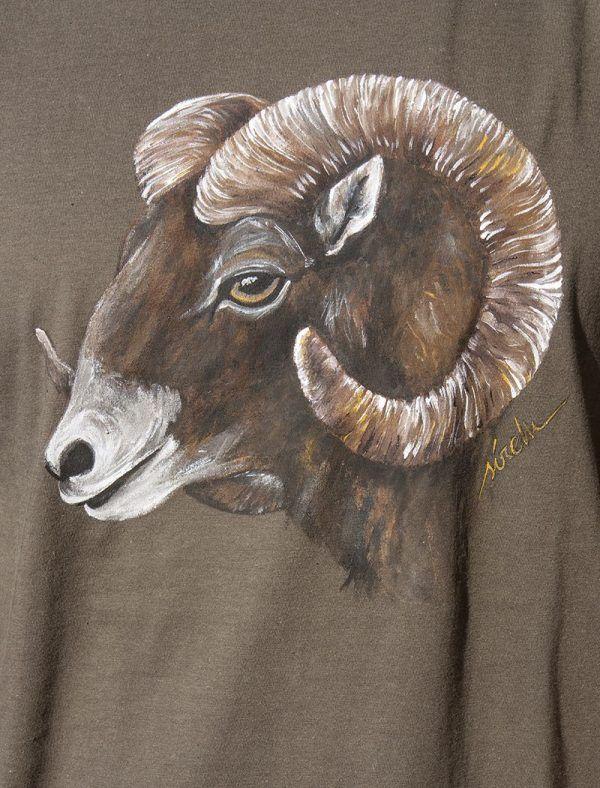 camiseta pintada a mano-sirem wild-muflon