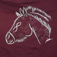 camiseta pintada-caballo cueva casares grabado