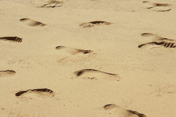 playa Cofete-huellas arena-fuerteventura