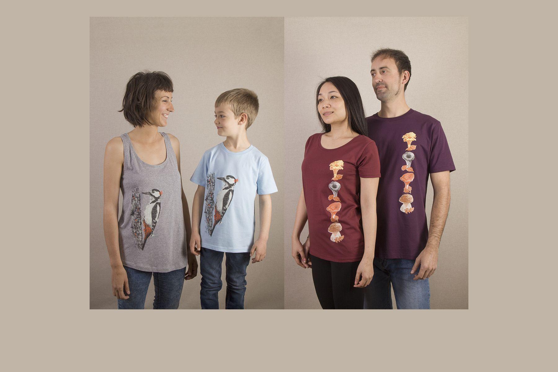 sirem wild-camiseta ecologica-picapinos-setas