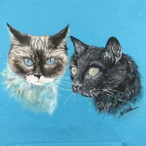 gatos-sirem wild-camiseta pintada a mano