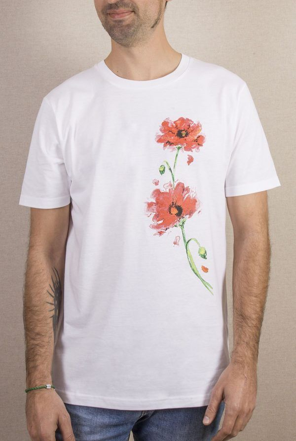 Camiseta amapolas hombre