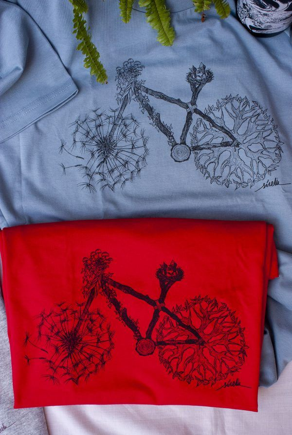 camiseta bici azul roja-sirem wild