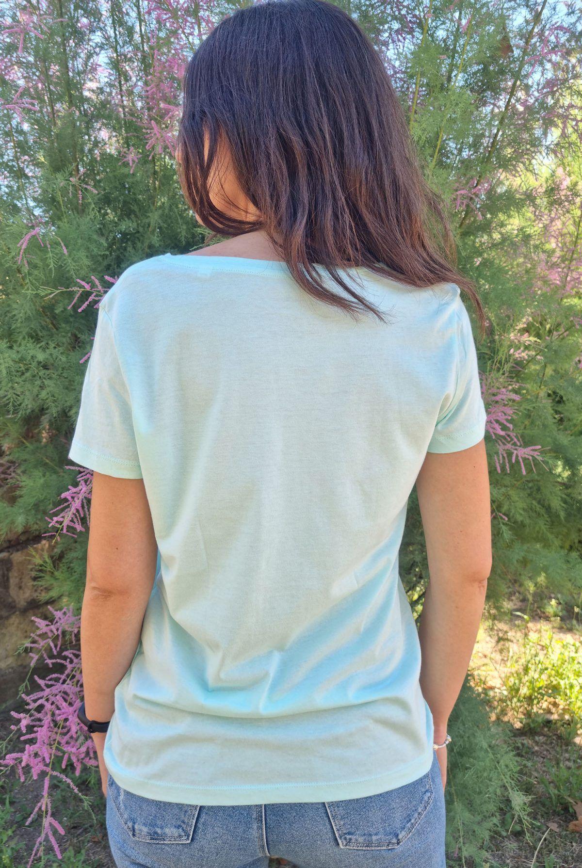 Camiseta mujer bici manga corta algodon organico-sirem wild