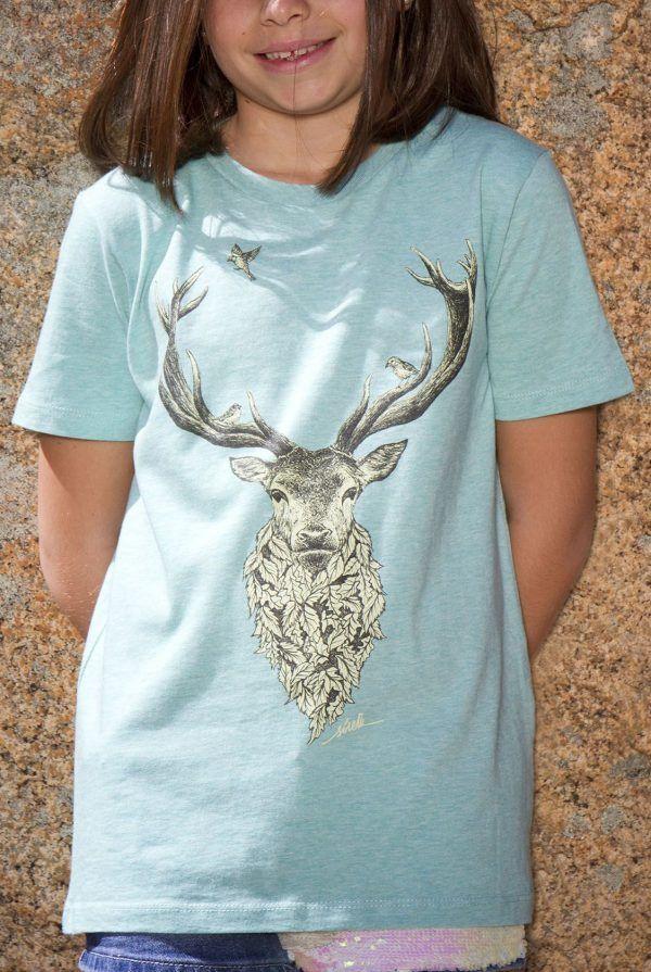 sirem wild-camiseta ecologica-algodon organico-ciervo-moda sostenible
