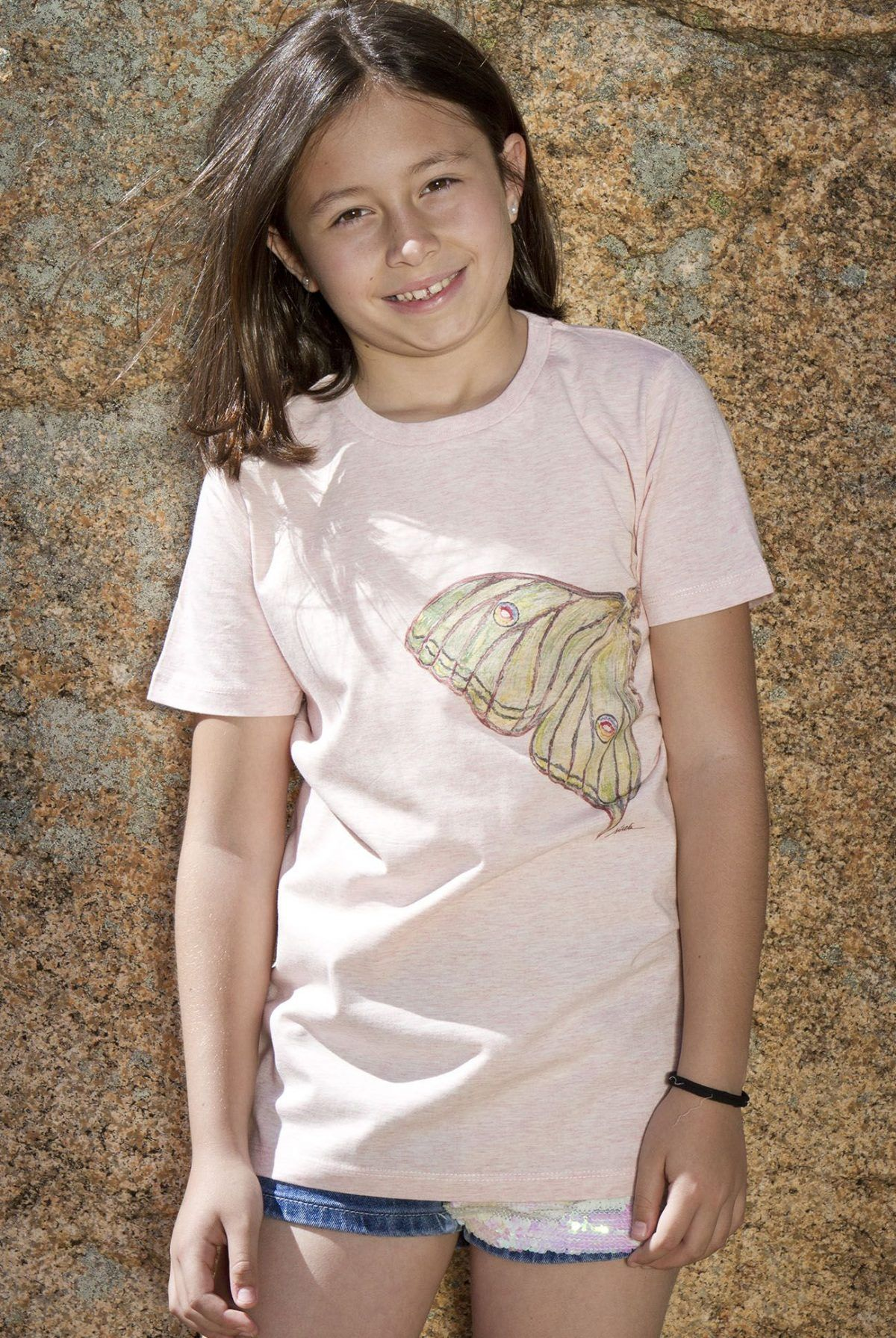 camiseta mariposa graellsia isabellae-algodon organico-sirem wild-moda infantil