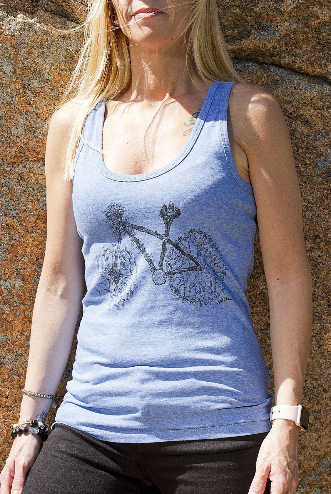 camiseta tirantes bicicleta naturaleza-algodon organico-sirem wild-moda sostenible