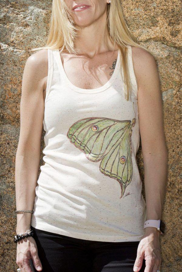 sirem wild-coleccion nature lover-moda sostenible etica-mariposa graellsia isabellae