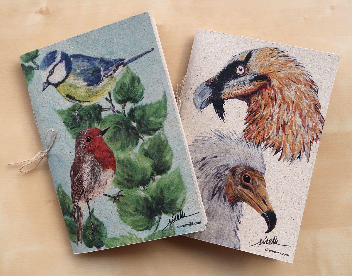 libretas animales aves-sirem wild-papel hierba