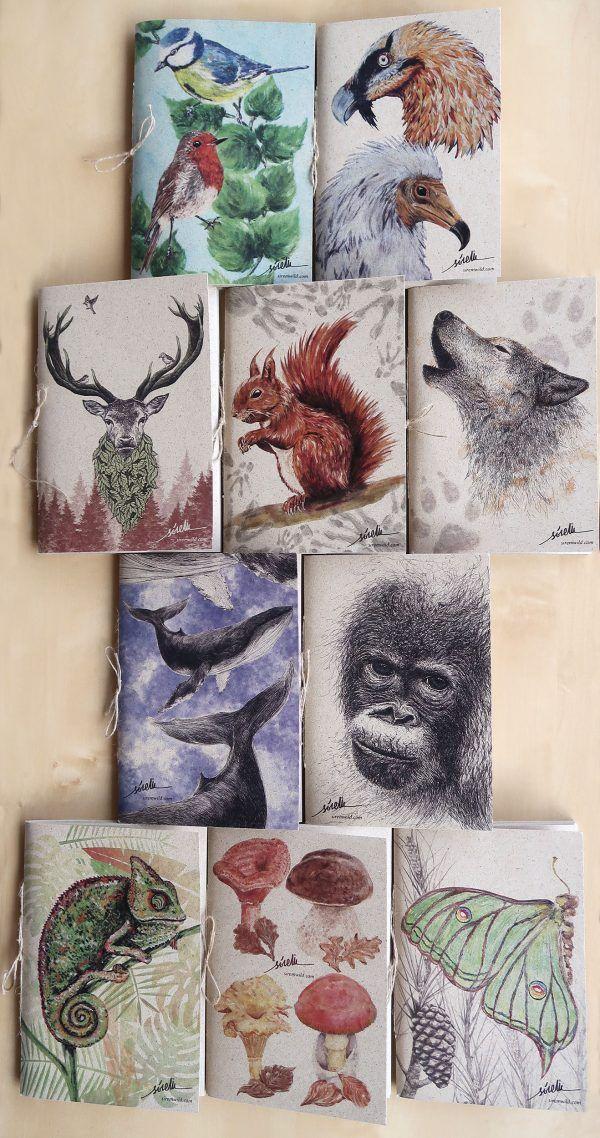libretas animales naturaleza-sirem wild-cuaderno papel reciclado