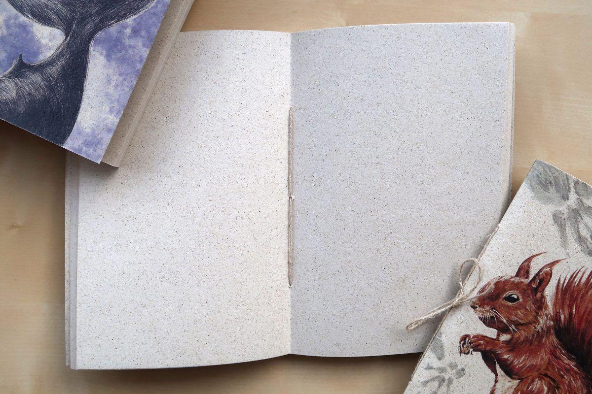 libretas papel reciclado natural-sirem wild