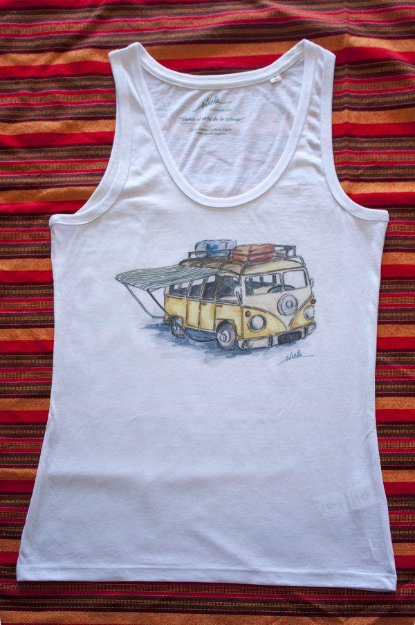 camiseta furgoneta camper-algodon organico-sirem wild-mujer tirantes