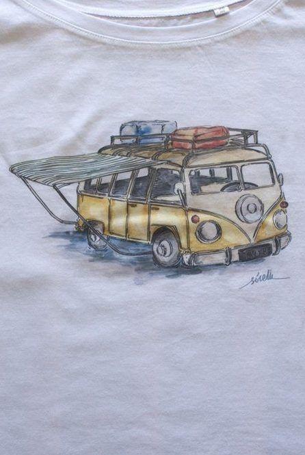camiseta-furgoneta-camper-algodon-organico-sirem-wild-mujer