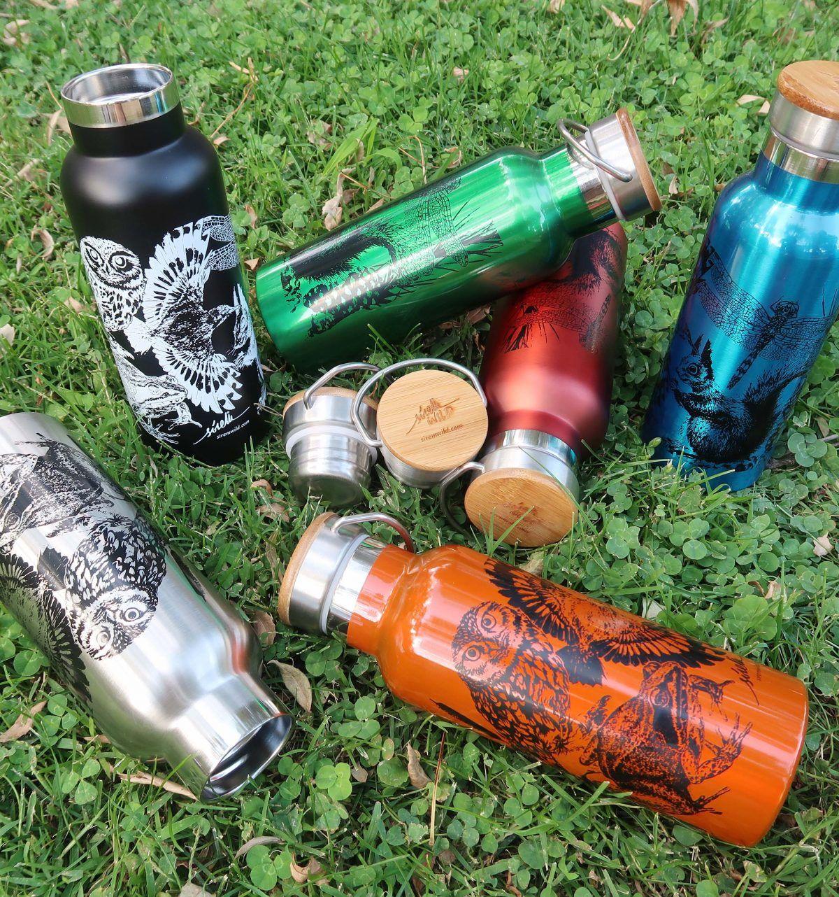 botellas de agua reutilizables animales-sirem wild