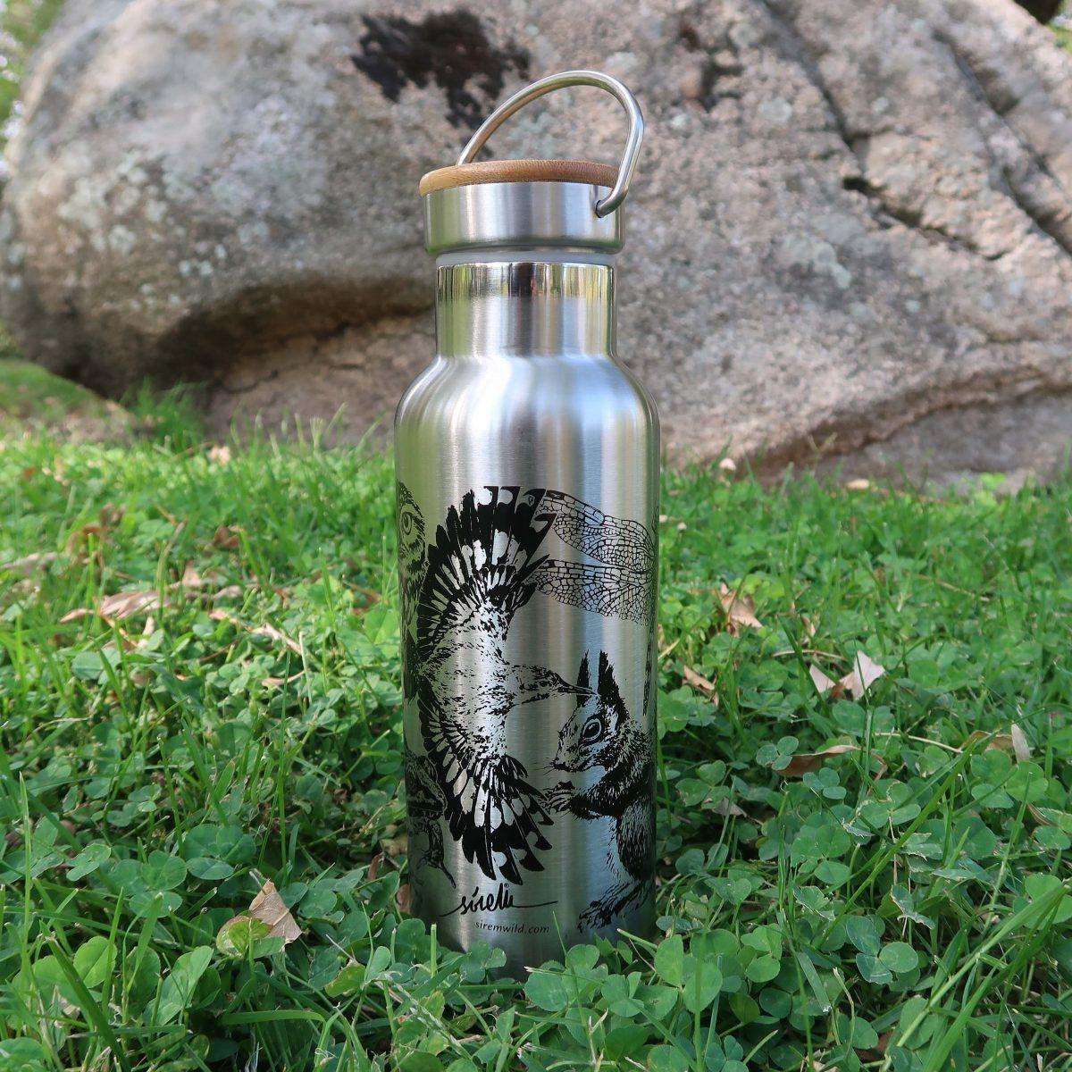 botellas de agua reutilizables-sirem wild-gris