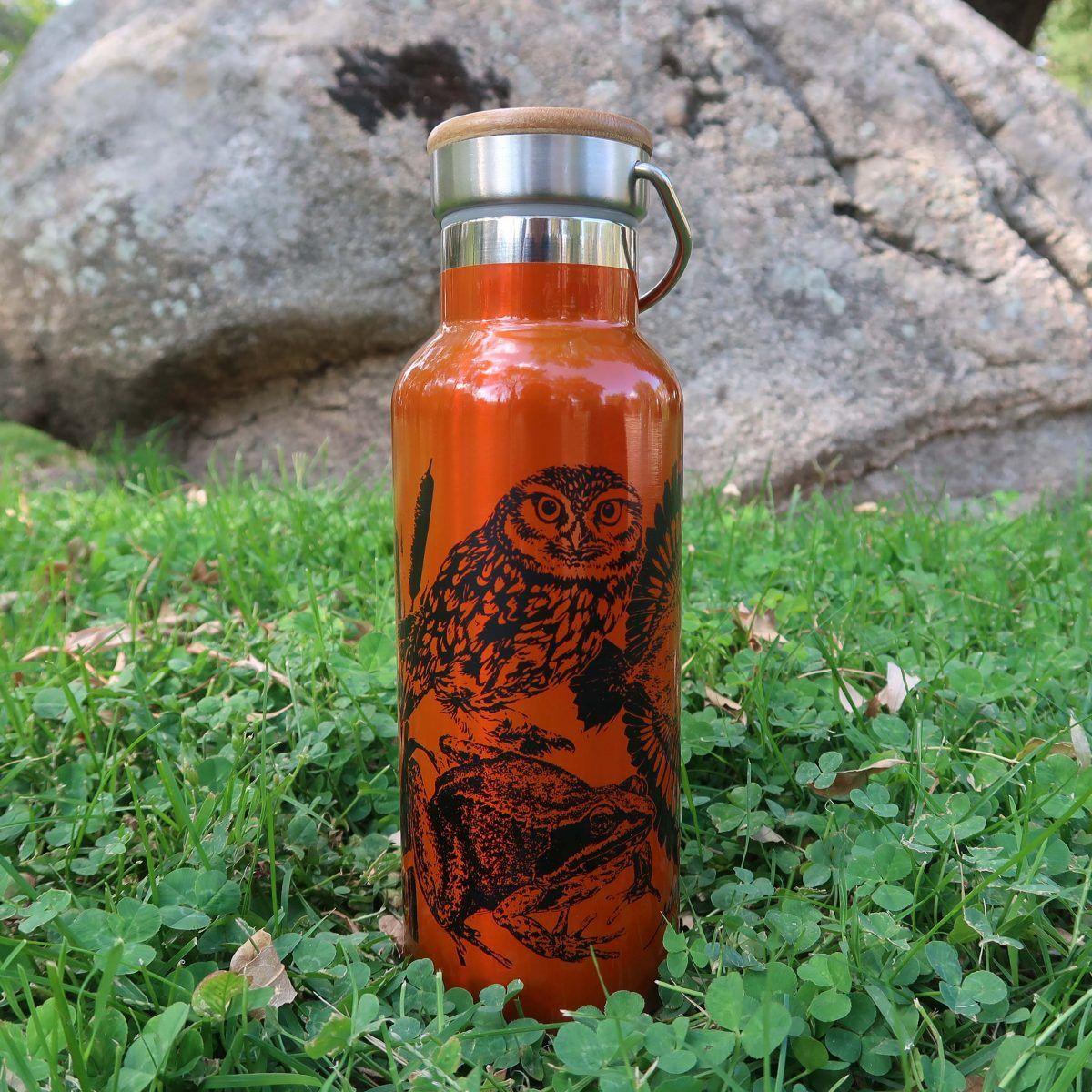 botellas de agua reutilizables-sirem wild-naranja