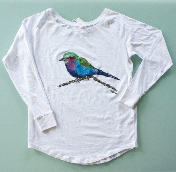camiseta personalizada pintada a mano-carraca lila-kenia-sirem wild