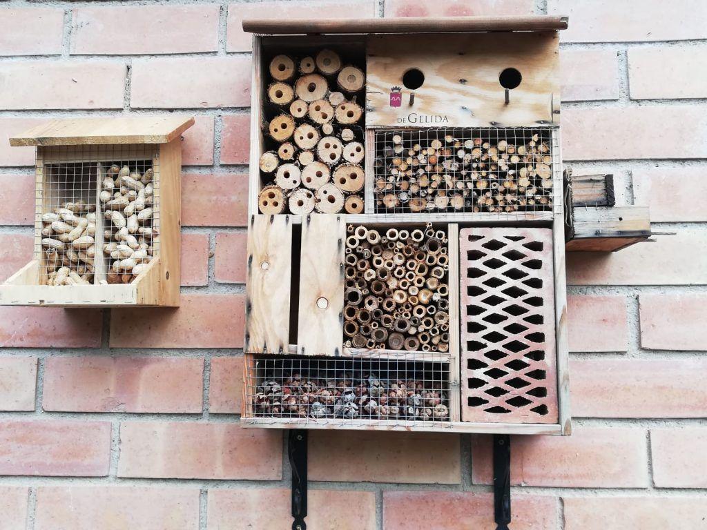 Polinizadores abejas en primavera-hotel insectos-abejas-polinización-sirem wild