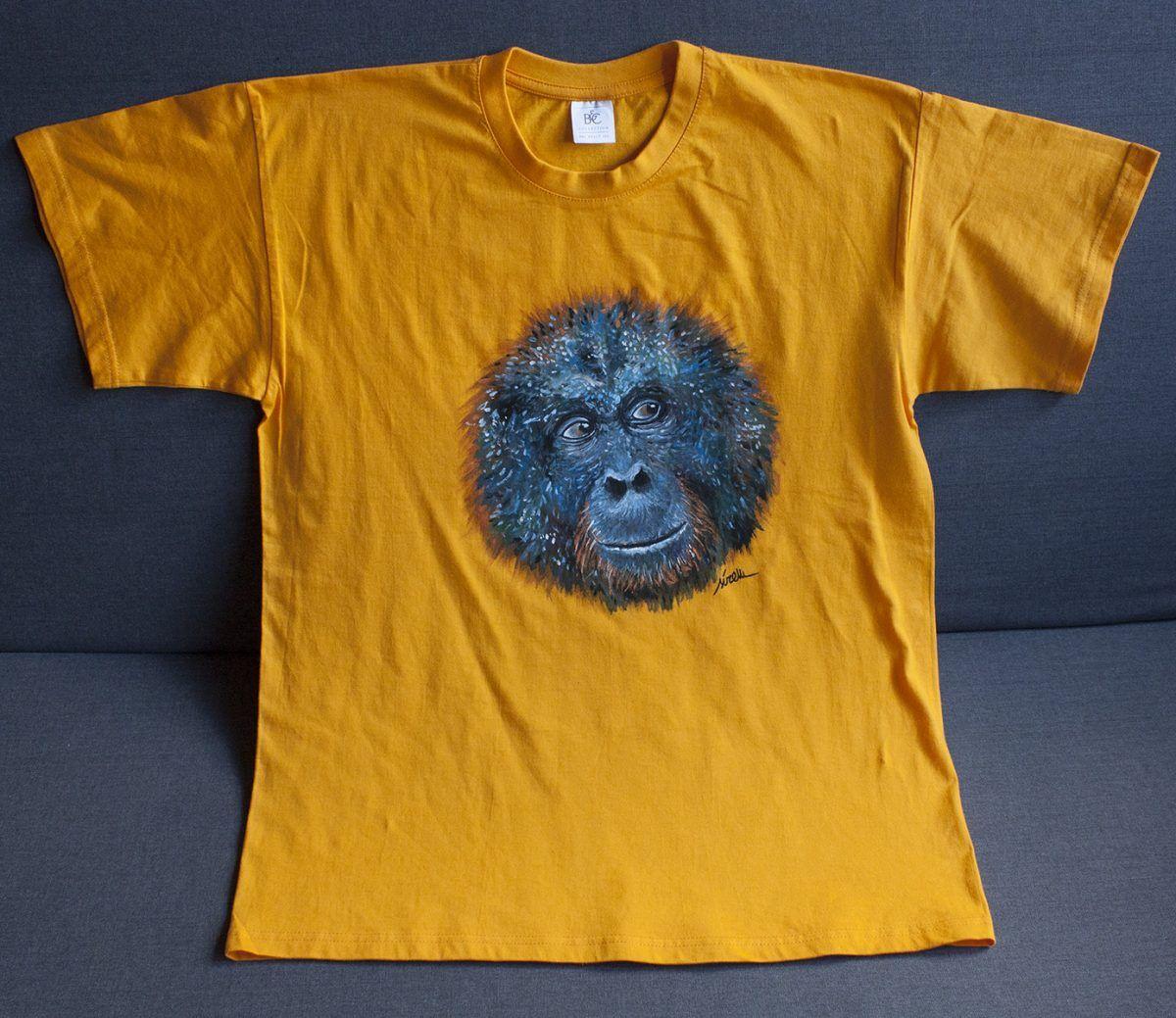 camiseta pintada a mano-orangutan-hombre unisex-sirem wild