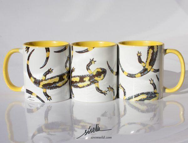 taza-salamandras-anfibios-sirem wild-amarilla