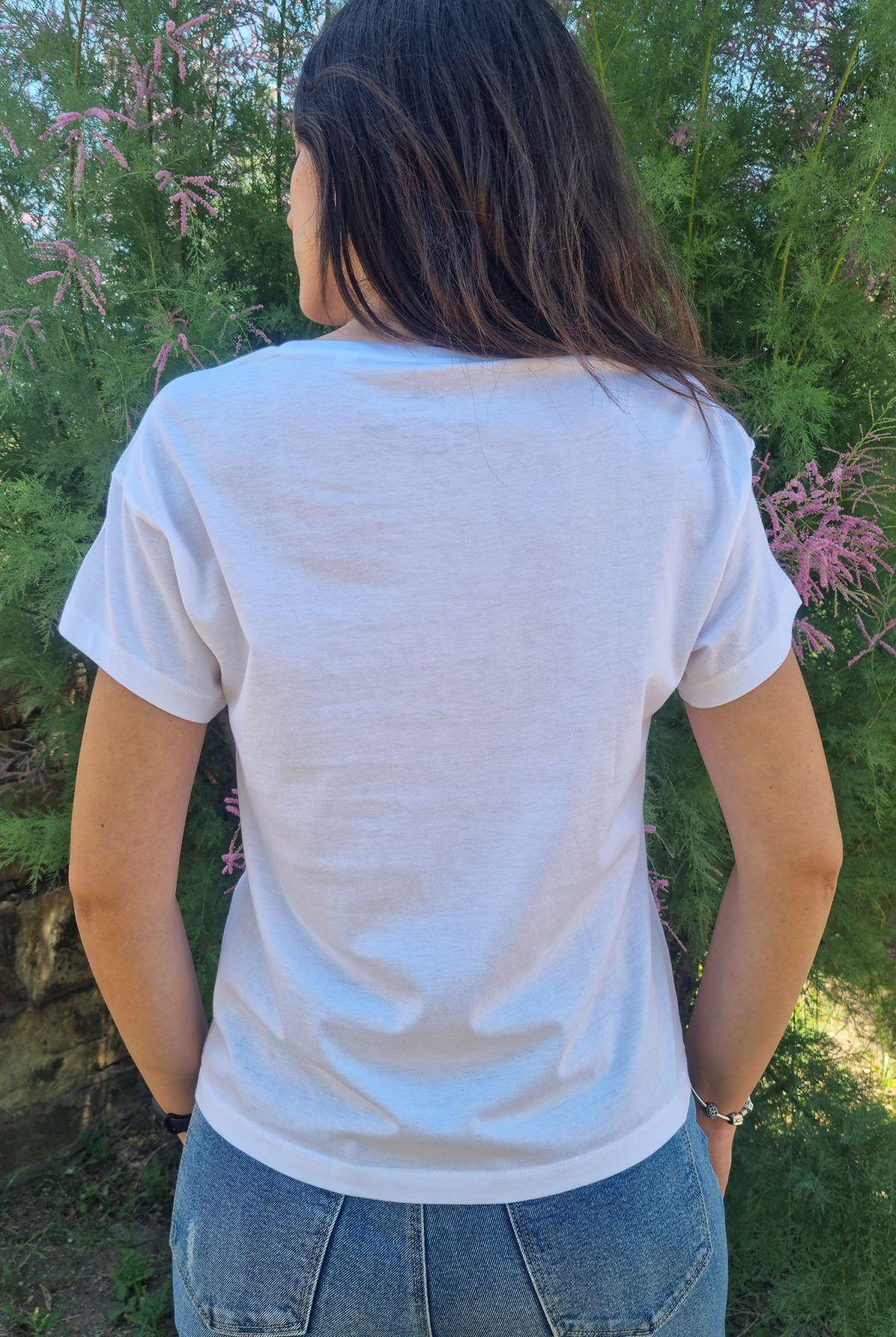 Camiseta mujer Baobab blanca-sirem wild