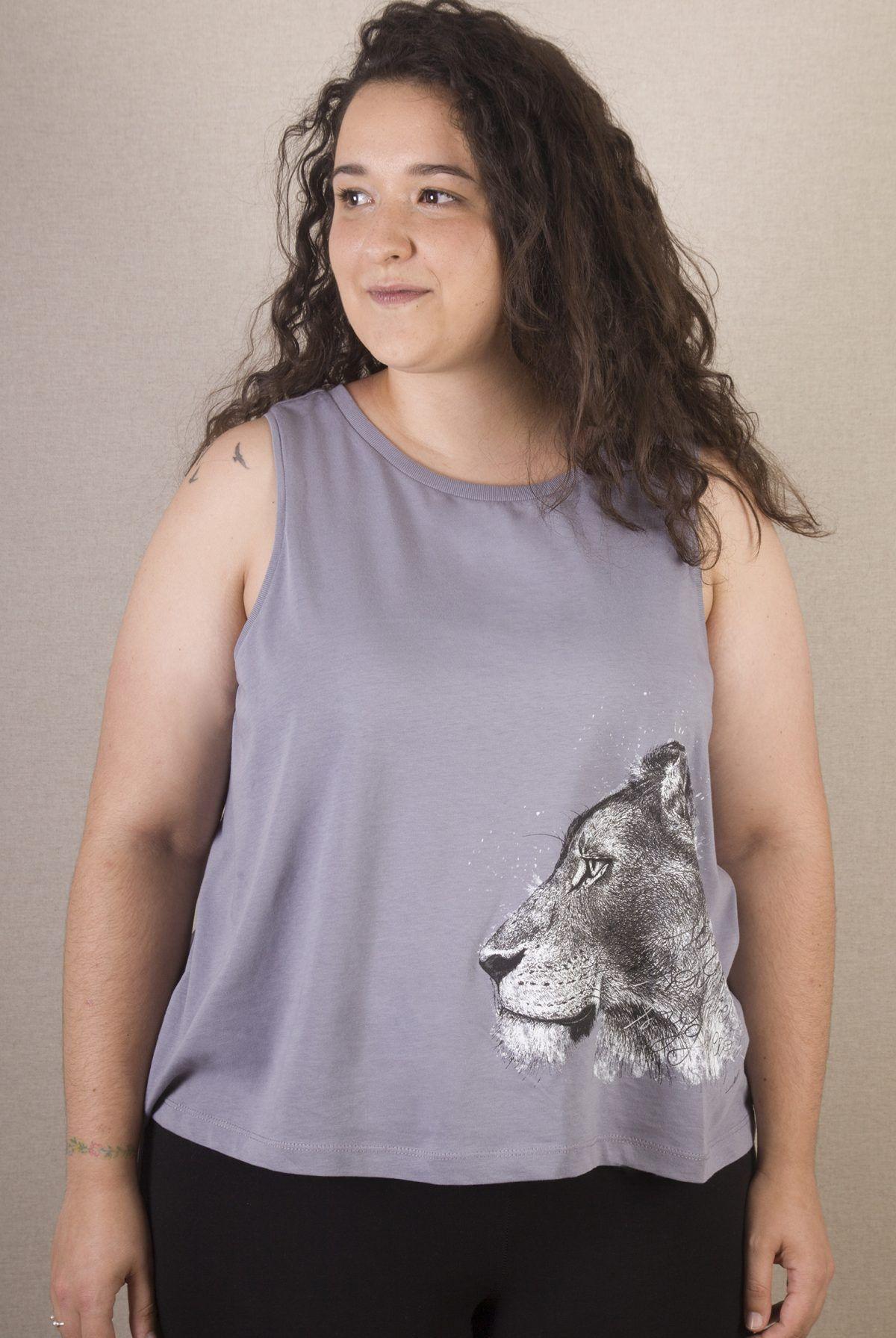 Camiseta mujer Leona de tirantes-sirem wild