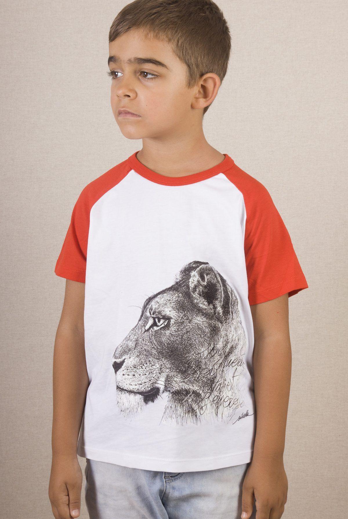 Camiseta niños Leona unisex-sirem wild