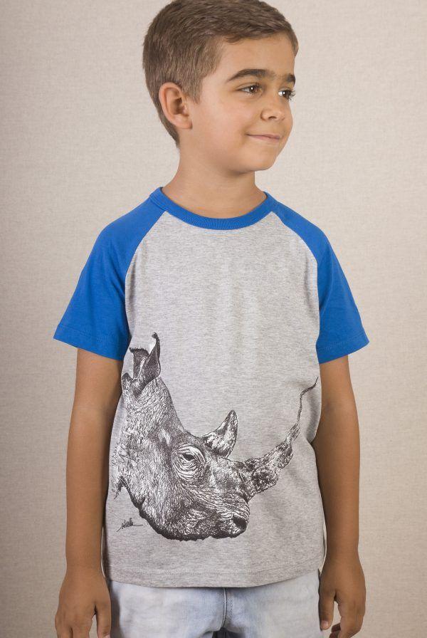 Camiseta niños Rinoceronte unisex-sirem wild