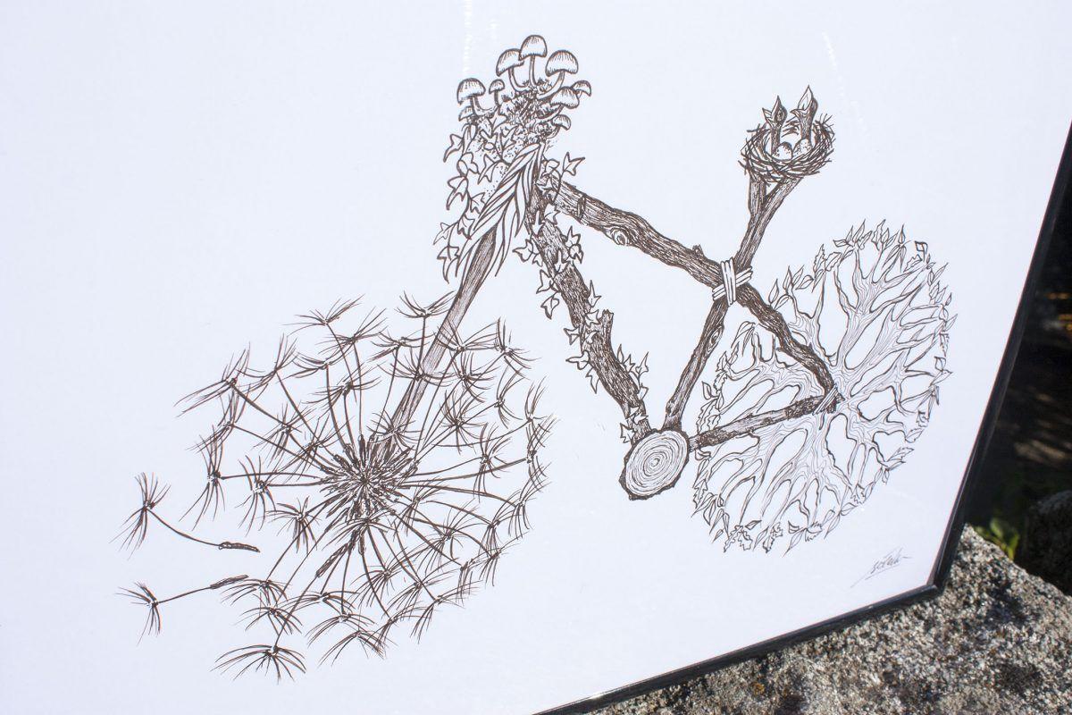 dibujo bici naturaleza original-sirem wild